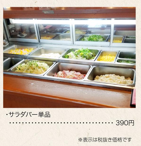 サラダバー単品 390円